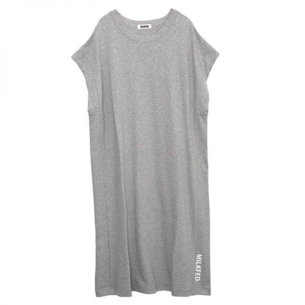 milk_fed._slit_logo_sleeveless_dress_03181943_03181943